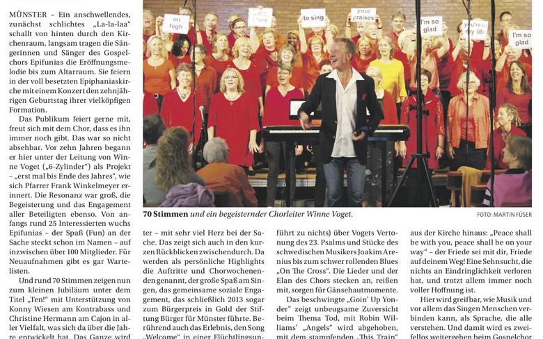 09. Oktober 2016: Jubiläumskonzert 2016 (Unsere Kirche)