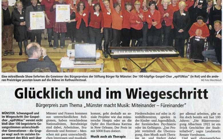 29. November 2013: Bürgerpreis zum Thema
